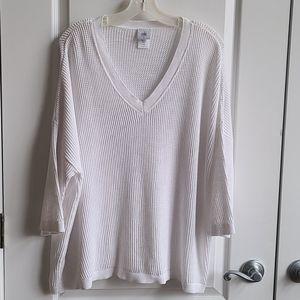 Cabi Breeze Cotton V-Neck Pullover